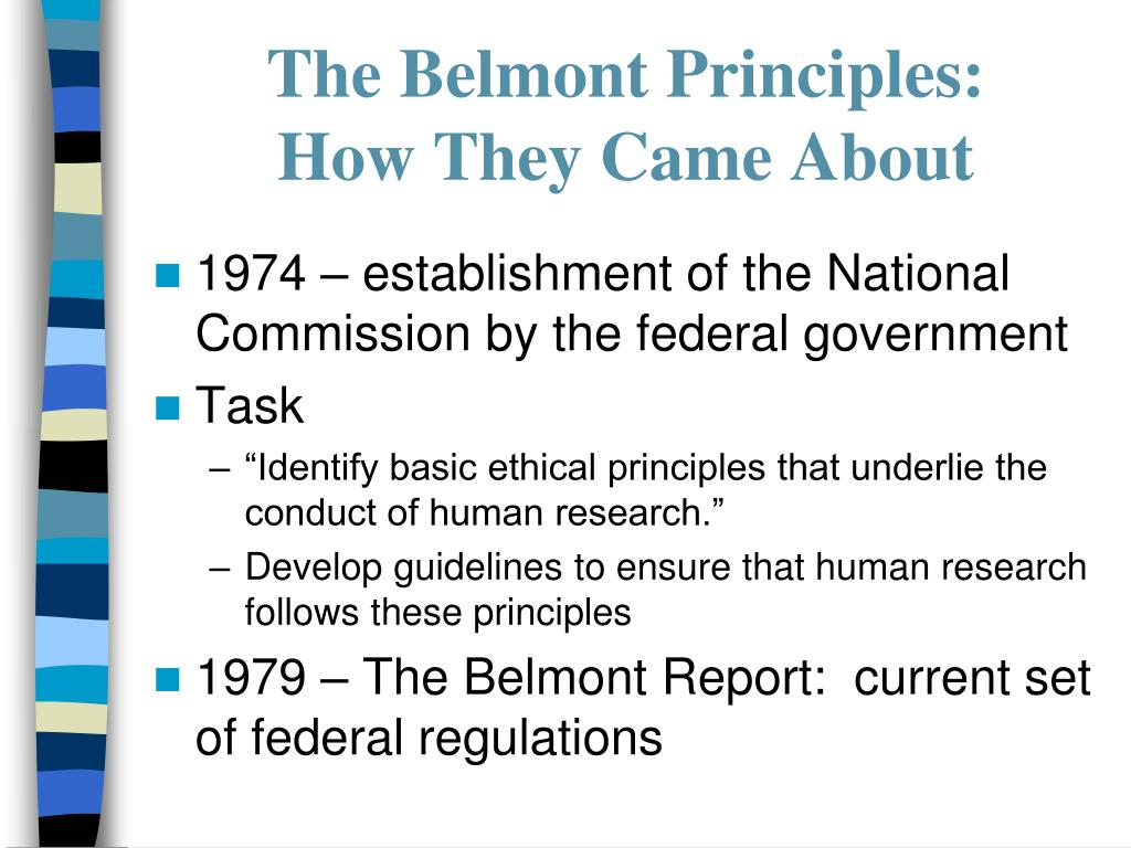 The Belmont Principles:
