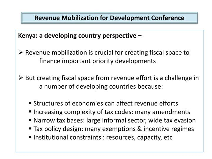 Revenue Mobilization for Development Conference
