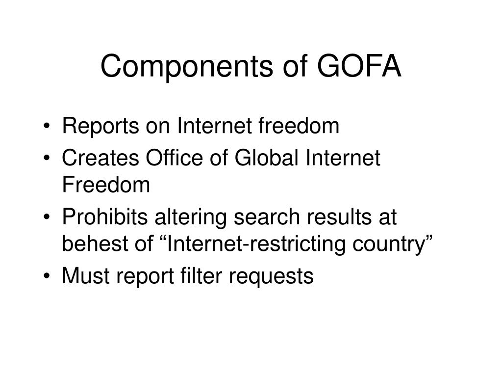 Components of GOFA