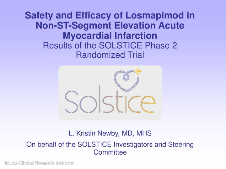 Safety and Efficacy of Losmapimod in Non-ST-Segment Elevation Acute Myocardial Infarction