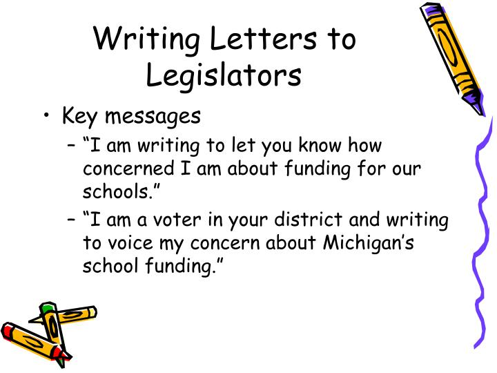 Writing Letters to Legislators