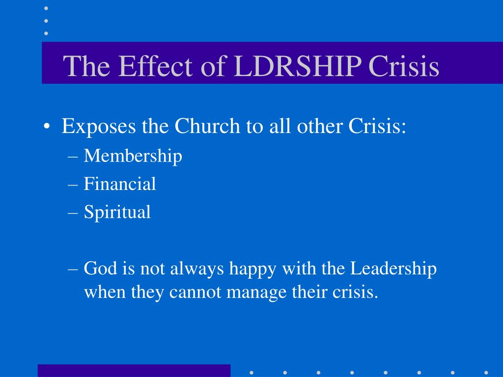 The Effect of LDRSHIP Crisis