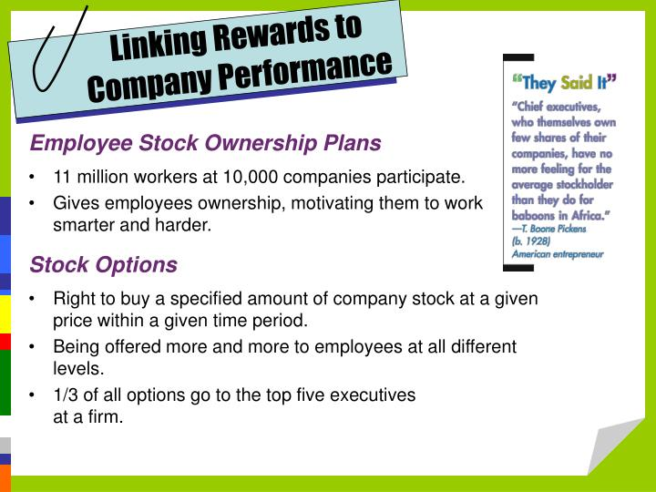 Linking Rewards to Company Performance