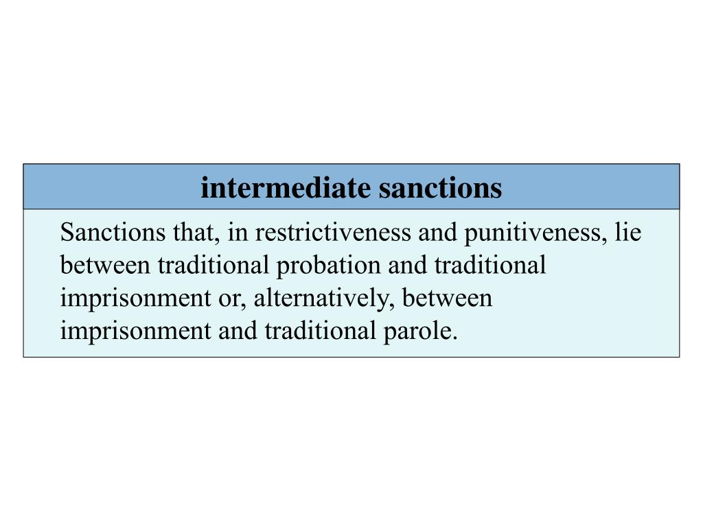 intermediate sanctions and shock probation essay