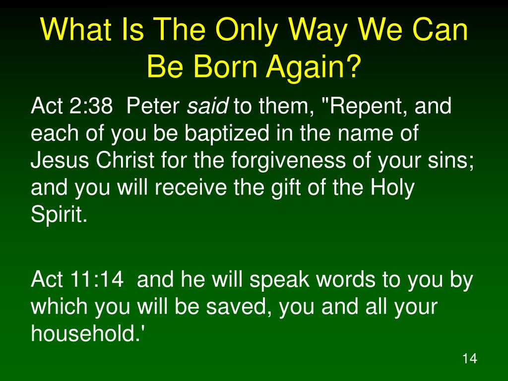 What Is The Only Way We Can Be Born Again?