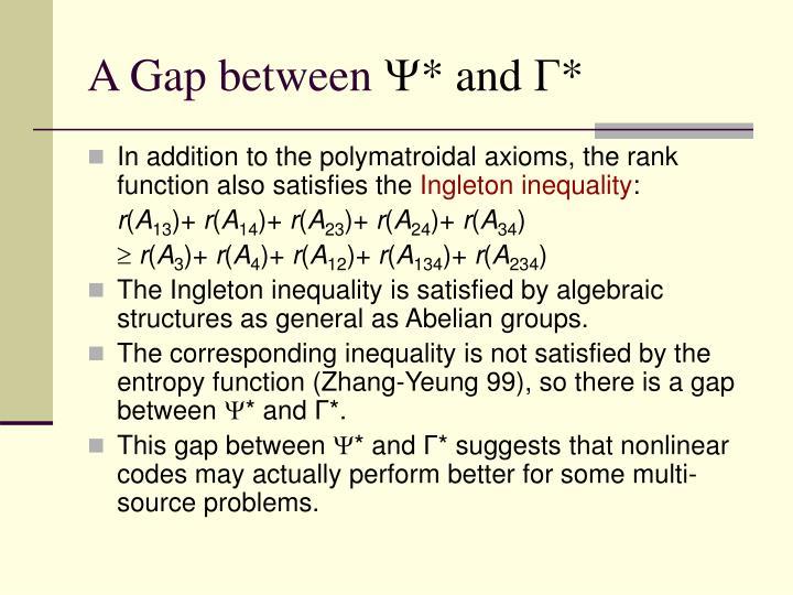 A Gap between