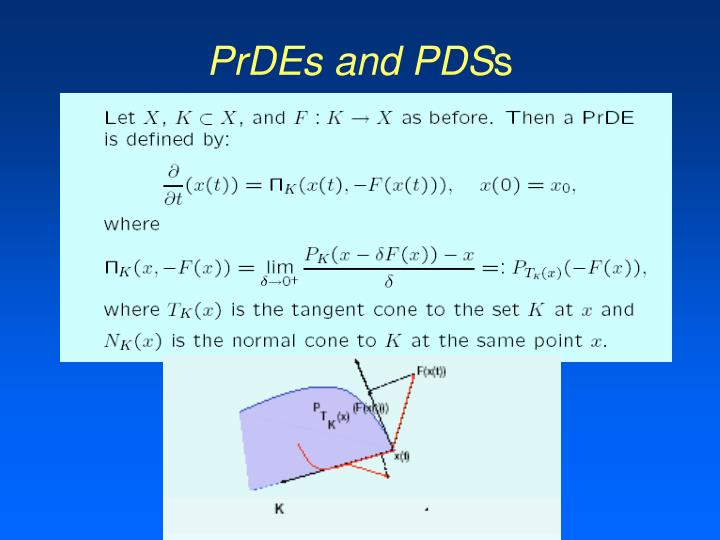 PrDEs and PDS