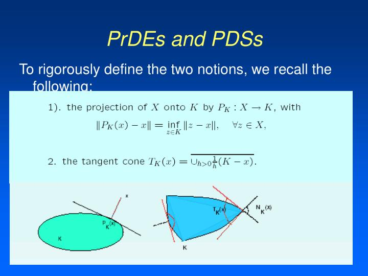 PrDEs and PDSs