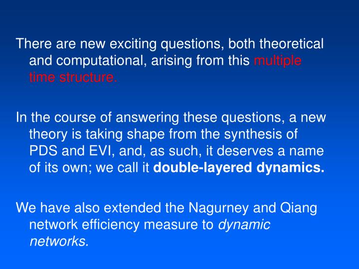 There are new exciting questions, both theoretical and computational, arising from this