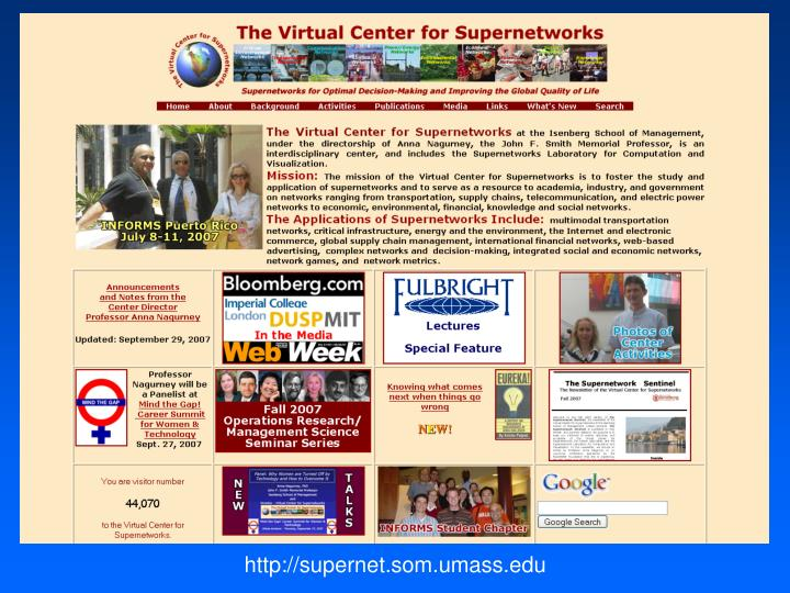 http://supernet.som.umass.edu