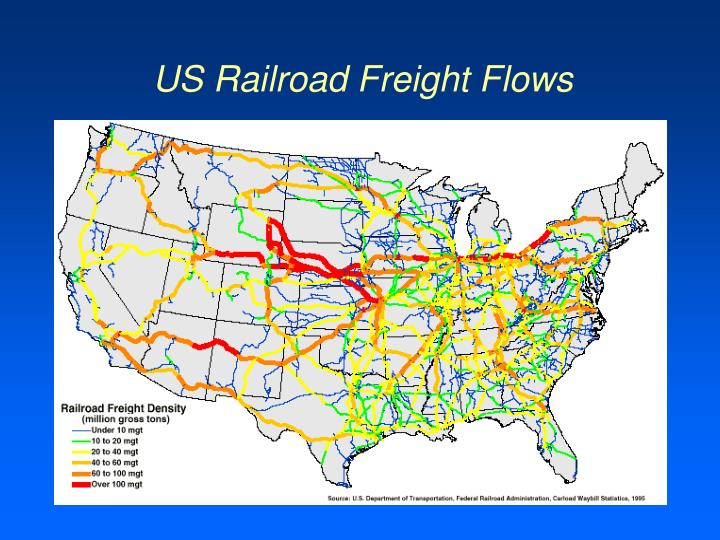 US Railroad Freight Flows