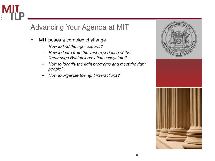 Advancing Your Agenda at MIT