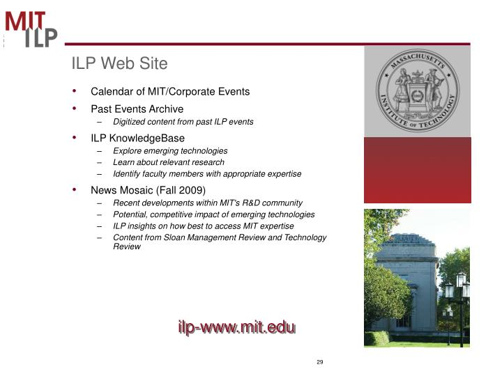 ILP Web Site