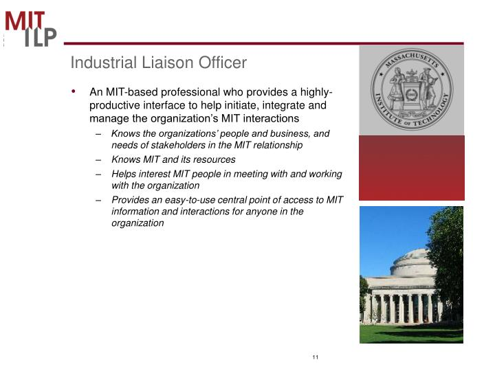 Industrial Liaison Officer