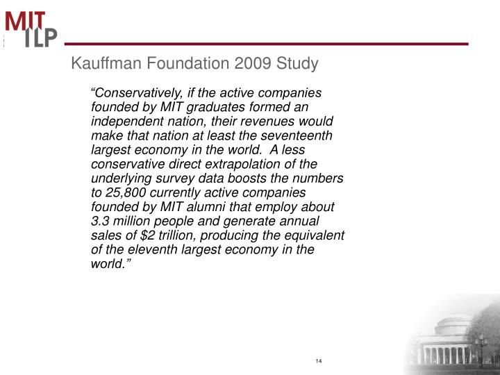 Kauffman Foundation 2009 Study