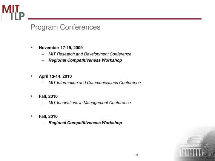 Program Conferences