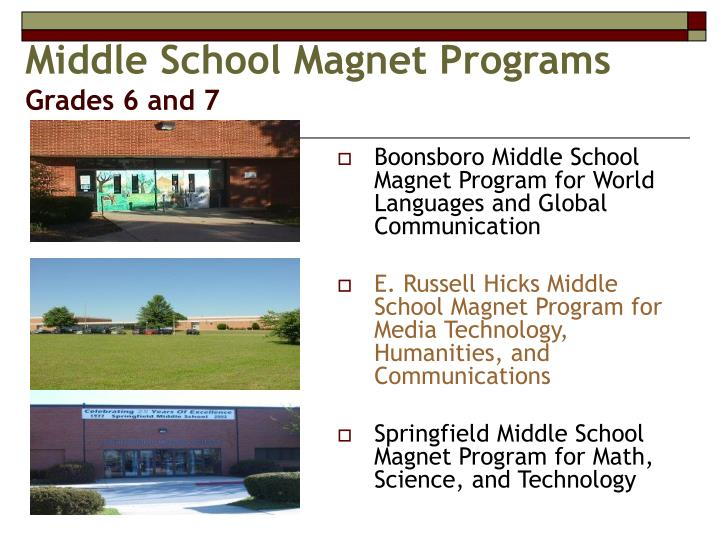 Middle School Magnet Programs