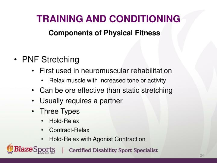 Training and Conditioning