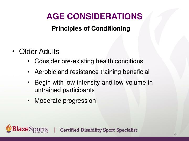 Age Considerations