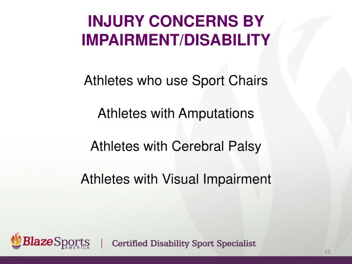 Injury Concerns By