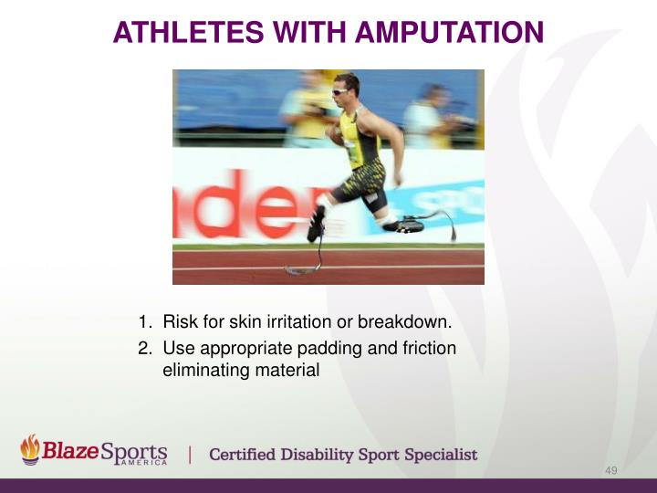 Athletes with amputation