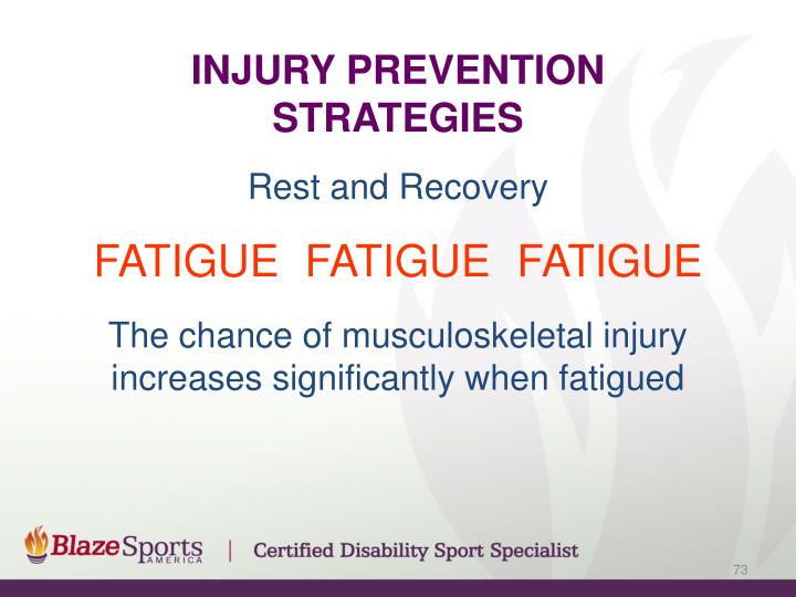 Injury prevention strategies