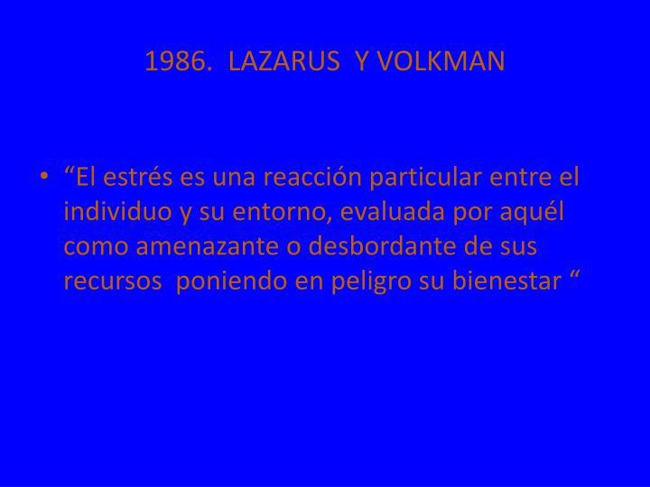 1986.  LAZARUS  Y VOLKMAN