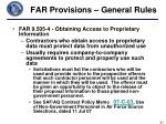 far provisions general rules3