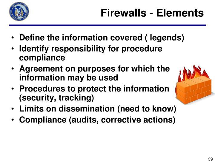 Firewalls - Elements