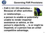 governing far provisions