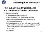 governing far provisions1
