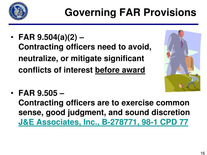 Governing FAR Provisions