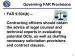 governing far provisions4