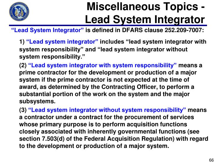 Miscellaneous Topics -