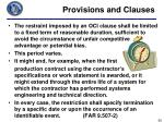 provisions and clauses2