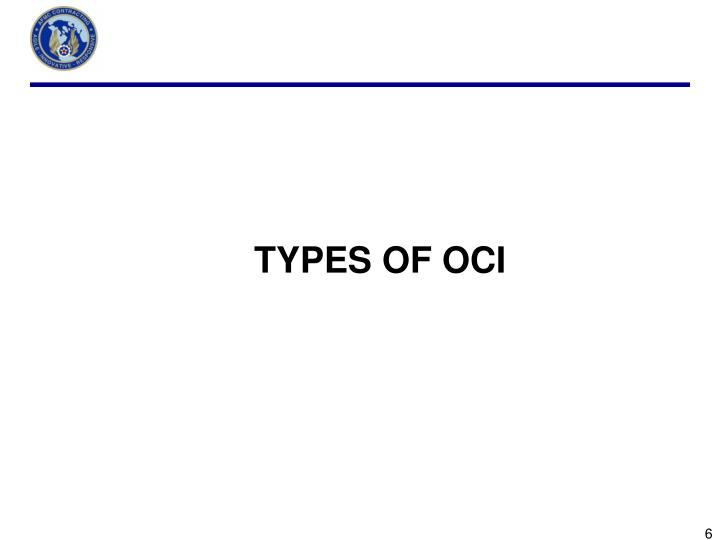 TYPES OF OCI