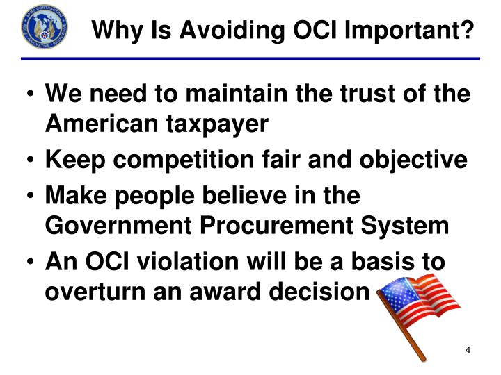 Why Is Avoiding OCI Important?