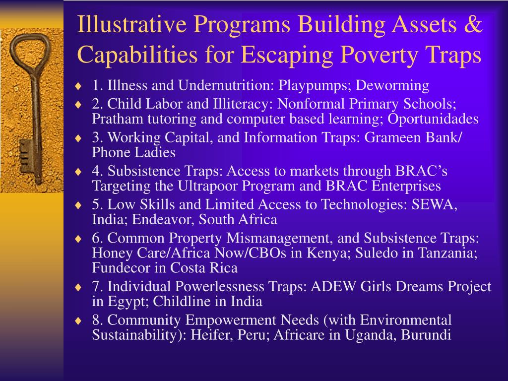 Illustrative Programs Building Assets & Capabilities for Escaping Poverty Traps
