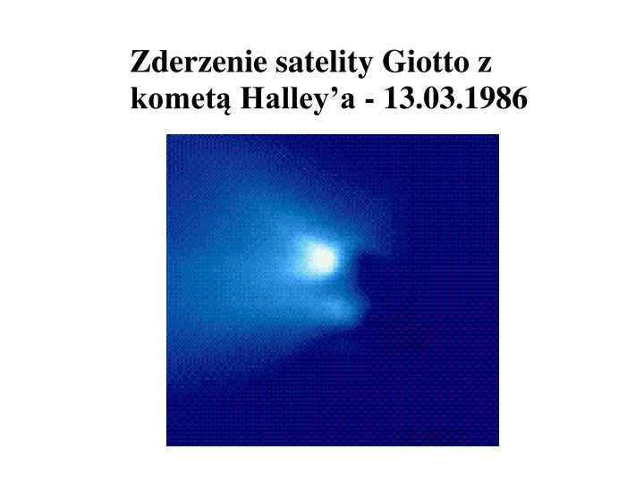 Zderzenie satelity Giotto z