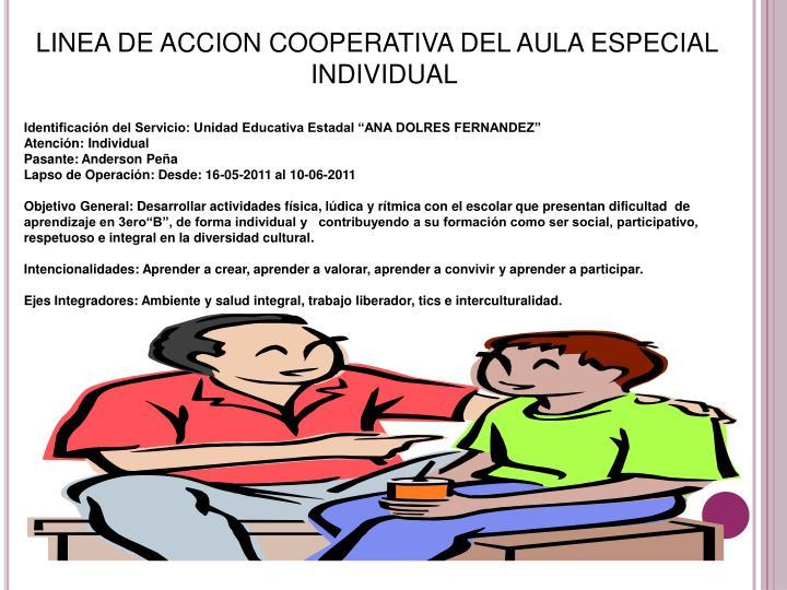 LINEA DE ACCION COOPERATIVA DEL AULA ESPECIAL