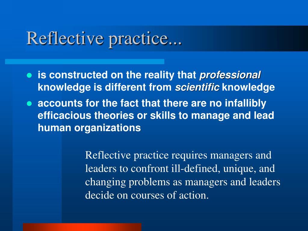 Reflective practice...