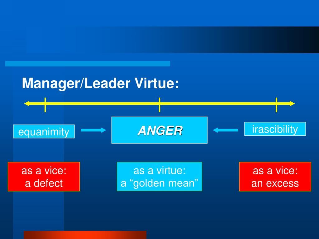 Manager/Leader Virtue: