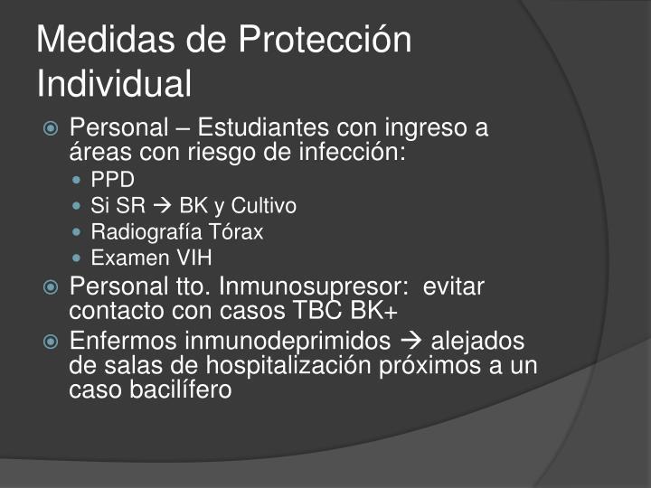 Medidas de Protección Individual