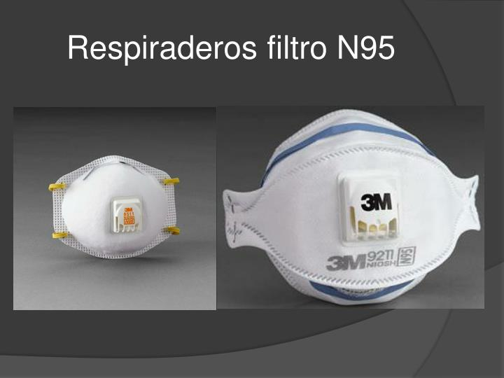 Respiraderos filtro N95