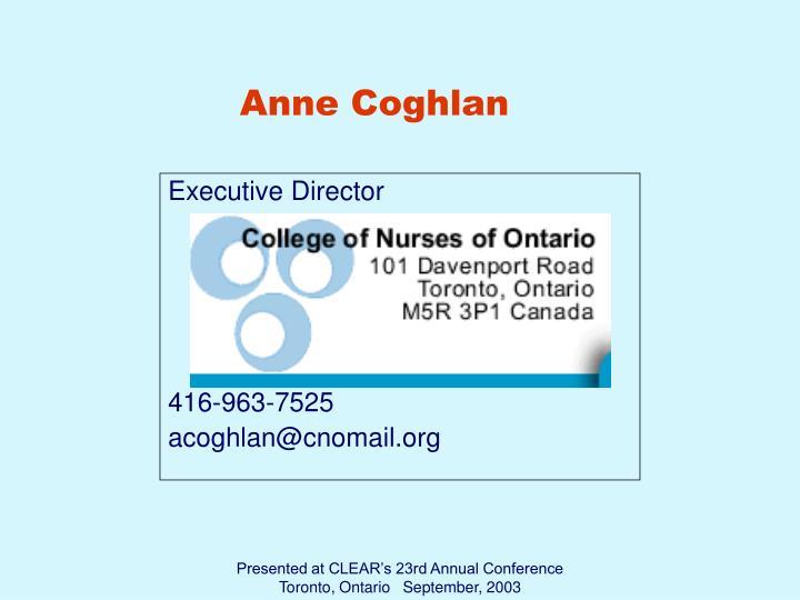 Anne Coghlan