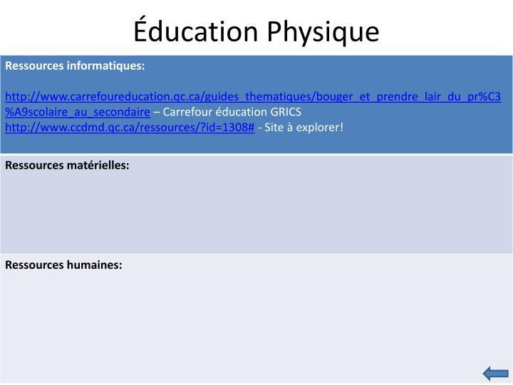 Éducation Physique