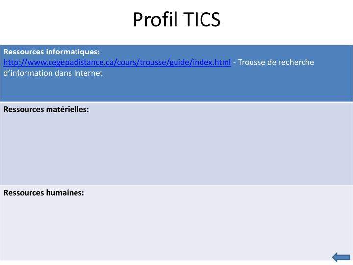 Profil TICS
