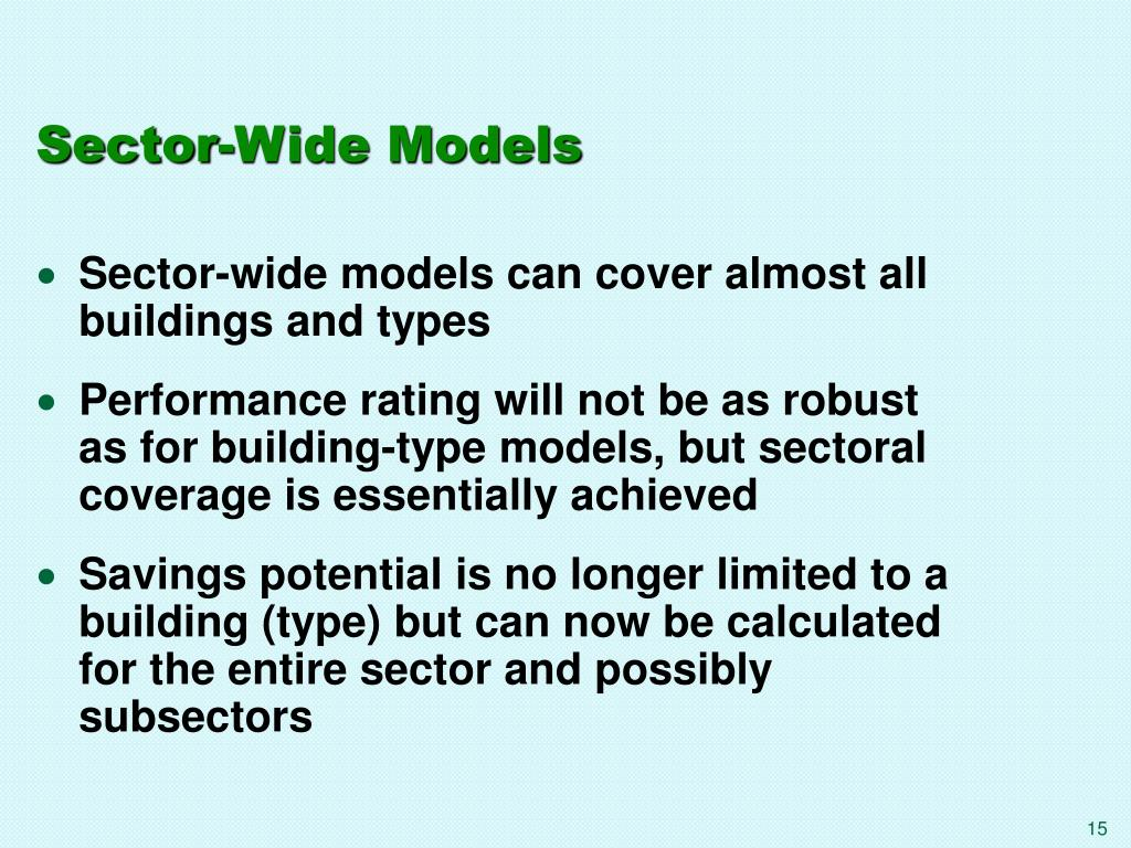 Sector-Wide Models