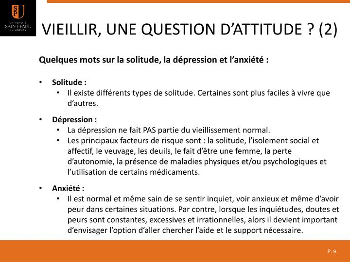 Vieillir, une question d'attitude ? (2)