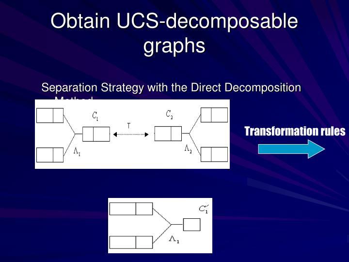 Obtain UCS-decomposable graphs